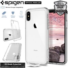 iPhone XS Max Case, Genuine SPIGEN Crystal Hybrid Ultra Tough Cover for Apple