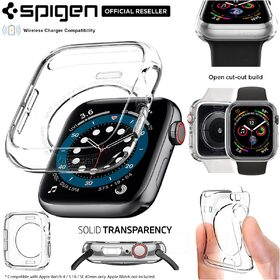 Apple Watch Series 6/5/4/SE Case, Genuine SPIGEN Liquid Crystal Clear Cover for 40mm