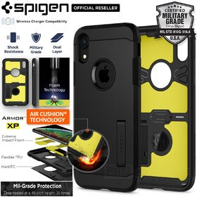 iPhone XR Case, Genuine SPIGEN Impact Shock proof Tough Armor XP Cover for Apple