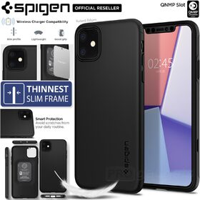 iPhone 11 Case, Genuine SPIGEN Thin Fit Classic Slim Hard Cover for Apple