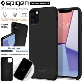 iPhone 11 Pro Case, Genuine SPIGEN Silicone Fit Soft Rugged Slim Cover for Apple