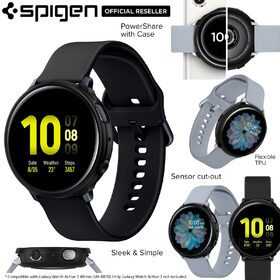 Galaxy Watch Active 2 40mm Case, Genuine Spigen Liquid Air Soft TPU Armor Slim Cover for Samsung