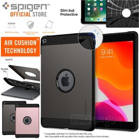 iPad 10.2 2020 / 2019 Case, Genuine Spigen Tough Armor Heavy Duty Hard Cover for Apple