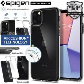 iPhone 11 Pro Max Case, Genuine SPIGEN Crystal Hybrid Ultra Tough Bumper Cover for Apple