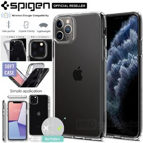 iPhone 11 Pro Max Case, Genuine SPIGEN Liquid Crystal Exact Fit Slim Soft Cover for Apple