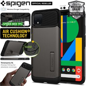Google Pixel 4 Case, Genuine Spigen Slim Armor Heavy Duty Hard Cover for Google
