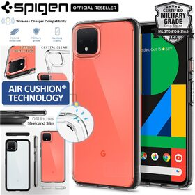 Google Pixel 4 Case, Genuine Spigen Ultra Hybrid  Air Cushion Bumper Hard Cover for Google