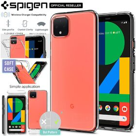 Google Pixel 4 XL Case, Genuine Spigen Liquid Crystal Exact Fit Slim Soft Cover for Google