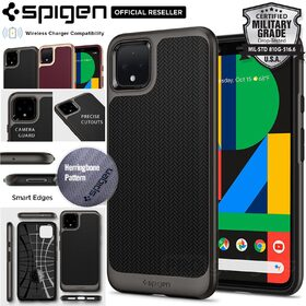 Google Pixel 4 XL Case, Genuine Spigen Neo Hybrid Dual Layer Premium Bumper TPU Cover for Google