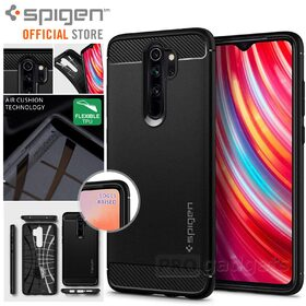 Xiaomi Redmi Note 8 Pro Case, Genuine Spigen Rugged Armor Resilient Ultra Soft Cover