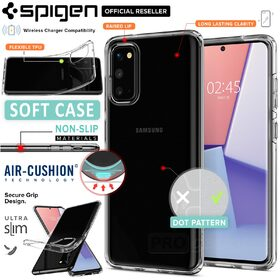 Galaxy S20 Case, Genuine SPIGEN Crystal Flex Ultra Slim TPU Soft Cover for Samsung