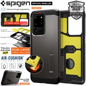 Galaxy S20 Ultra Case, Genuine SPIGEN Tough Armor XP Impact Shock Proof Kickstand Hard Cover for Samsung