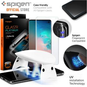Galaxy S10 Screen Protector, Genuine SPIGEN GLAS.tR Platinum UV Tempered Glass for Samsung