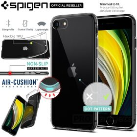 Genuine SPIGEN Crystal Flex Ultra Slim TPU Soft Cover for Apple iPhone 8 7 SE 2020 Case