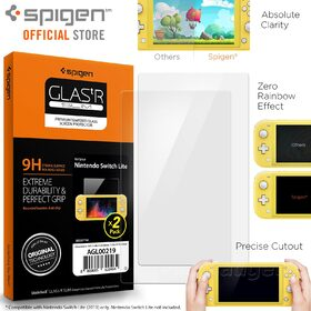 Genuine Spigen GLAStR 9H Tempered Glass Screen Protector for Nintendo Switch Lite 2PC
