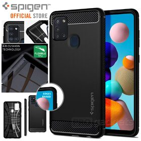 Genuine SPIGEN Rugged Armor Resilient Ultra Soft Cover for Samsung Galaxy A21s Case