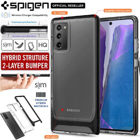 Genuine SPIGEN Neo Hybrid CC Crystal Dual Layer Clear Bumper Cover for Samsung Galaxy Note 20 Case