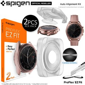 Genuine SPIGEN Pro Flex EZ Fit 2PCS for Samsung Galaxy Watch 3 41mm Screen Protector