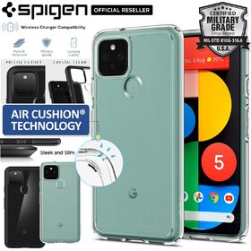 Genuine SPIGEN Ultra Hybrid Shockproof Clear Hard Cover for Google Pixel 5 Case