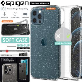 Genuine SPIGEN Liquid Crystal Glitter Slim Soft Cover for Apple iPhone 12 / iPhone 12 Pro (6.1-inch) Case