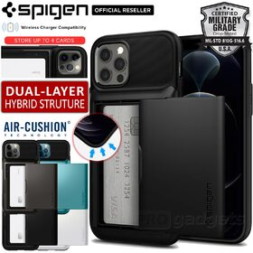 Genuine SPIGEN Slim Armor Wallet Card Slider Holder Cover for Apple iPhone 12 / 12 Pro (6.1-inch) Case