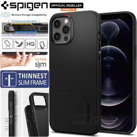 Genuine SPIGEN Ultra Thin Fit Slim Hard Cover for Apple iPhone 12 Pro Max (6.7-inch) Case