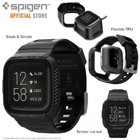 Genuine SPIGEN Rugged Armor Pro Wristband Cover for Fitbit Versa 2 Case