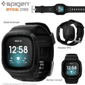 Genuine SPIGEN Rugged Armor Pro Wristband Cover for Fitbit Versa 3 Case