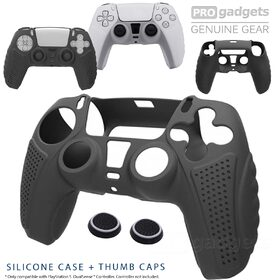 For PlayStation PS5 Controller Protective Silicone Skin Cover Case + Thumb Grips