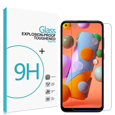 Anti-Fingerprint 9H Tempered Glass Screen Protector for Samsung Galaxy A11 [Colour:Clear]