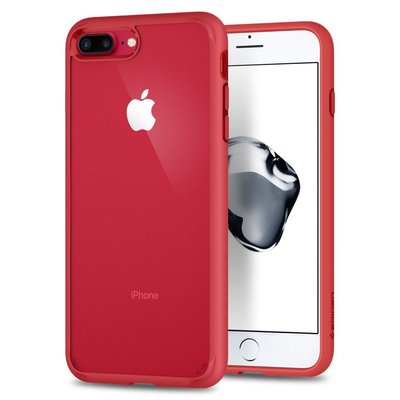 iPhone 7 Plus Case, Genuine SPIGEN Ultra Hybrid 2 Air Cushion Soft Cover Apple [Colour:Red]