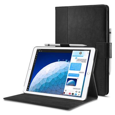 iPad Air 3 / iPad Pro 10.5 Case, Genuine SPIGEN Pocket Stand Folio Auto Wake Stand Cover [Colour:Black]