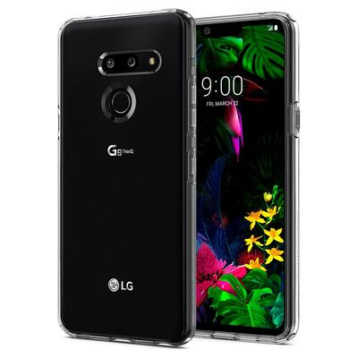LG G8 ThinQ Case, Genuine SPIGEN Ultra Slim Liquid Crystal Soft Cover for LG [Colour:Clear]