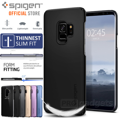 Galaxy S9 Plus Case, Genuine SPIGEN Ultra Thin Fit Exact-Fit Slim Cover