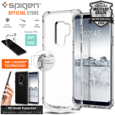 Galaxy S9 Plus Case, Genuine SPIGEN Rugged Crystal Air Cushion Cover for Samsung