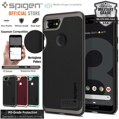 Google Pixel 3 Case,Genuine SPIGEN Neo Hybrid Dual Layer Bumper Cover for Google