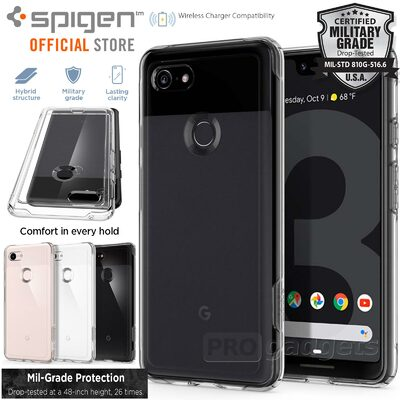 Google Pixel 3 XL Case, Genuine SPIGEN Slim Armor Crystal Heavy Duty Cover